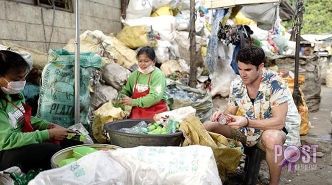 LOOK: Fil-Am star Darren Criss helps in waste management program in Manila