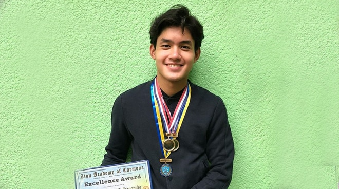 Grae Fernandez proudly shares Excellence Award in school