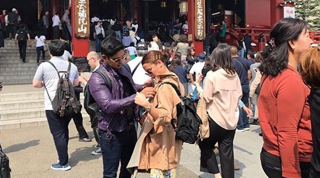 LOOK: Yassi Pressman and Coco Martin sweet moments in Japan