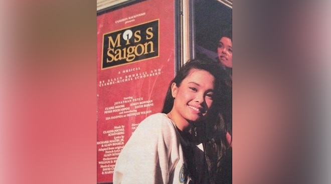 'Blast from the past': Lea Salonga looks back at Miss Saigon days with throwback photo