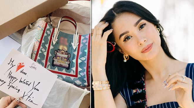 Heart Evangelista receives a custom-designed birthday gift from French fashion designer Christian Louboutin