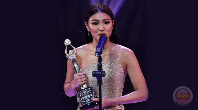 Nadine Lustre wins Best Actress at the 67th FAMAS Awards