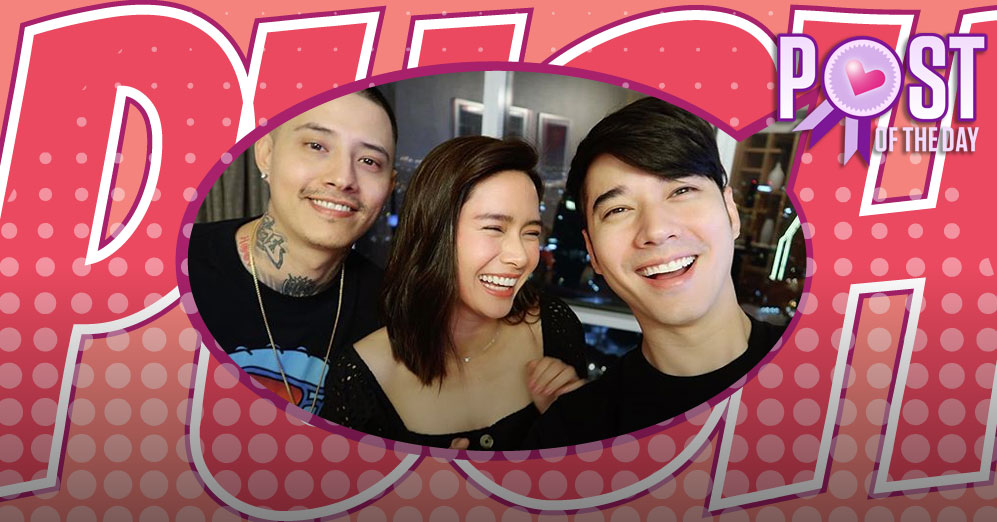 Erich Gonzales reunites with the Maurer brothers