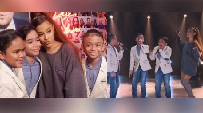 LOOK: TNT Boys meet Ariana Grande on 'The Late Late Show With James Corden'