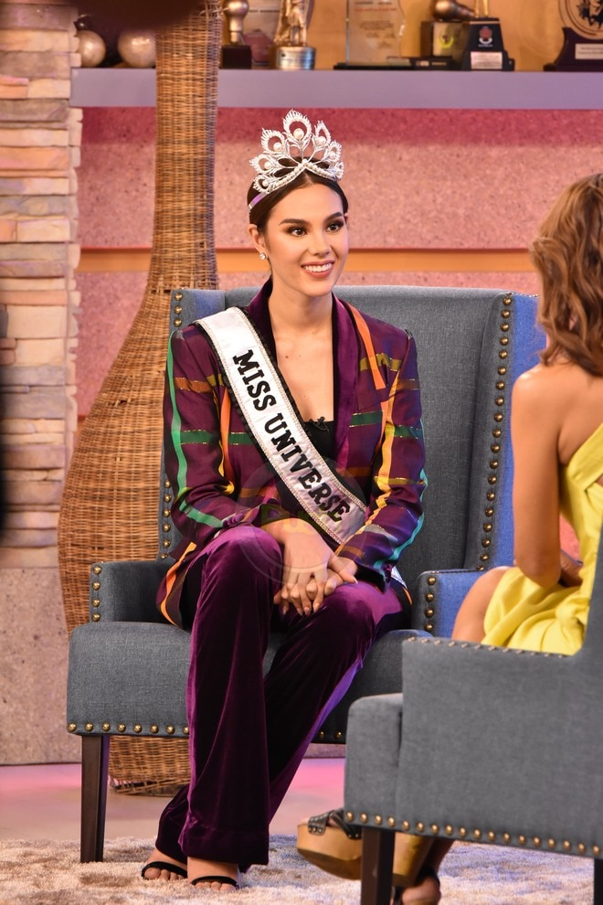 During her homecoming, Catriona Gray did interviews for Kapamilya shows.