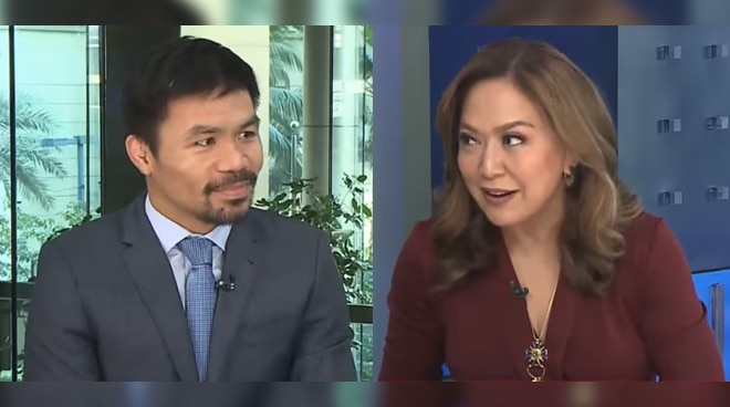 Sen. Manny Pacquiao defends Karen Davila: 'I was never offended by her manner of questioning'