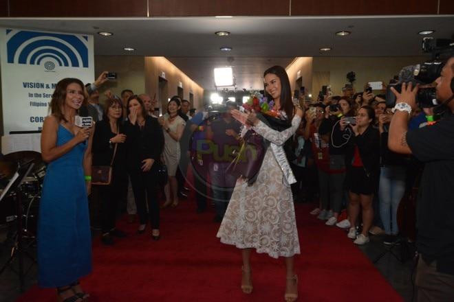 Catriona received a warm welcome from her Kapamilya network.