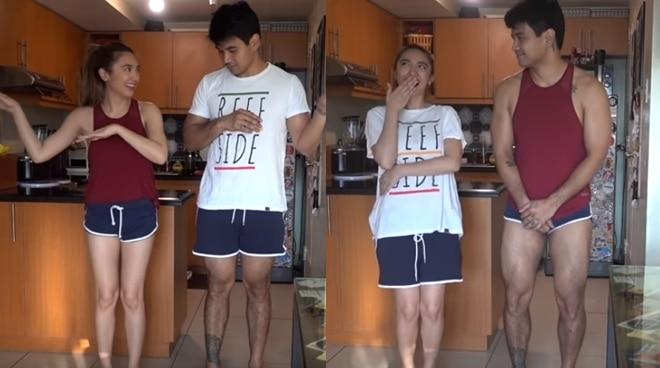 Cuteness Alert! Joem Bascon and girlfriend Crisha Uy do the Change Clothes Challenge