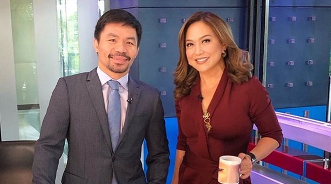"""Karen Davila grateful to Manny Pacquiao for """"setting the record straight"""""""