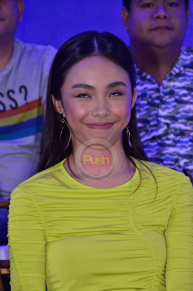 Maymay poses wacky at the iWant and Indigital's presscon for new shows.