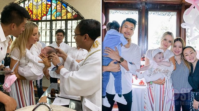 James Yap and Michela Cazzola's daughter gets baptized