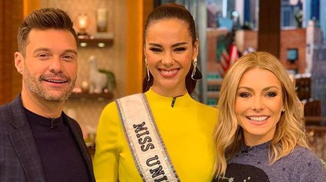 Catriona Gray impresses US talk show hosts Ryan Seacrest and Kelly Ripa