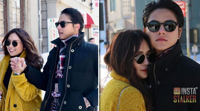 """Daniel Padilla and Kathryn Bernardo get cozy in Japan"
