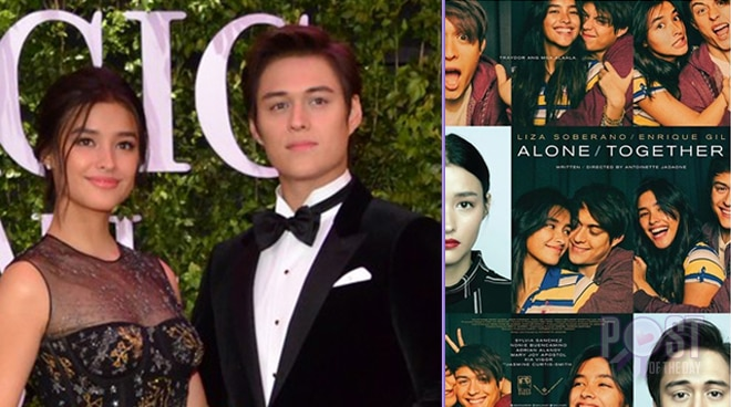 LOOK: Official poster for LizQuen's movie 'Alone/Together' has been revealed