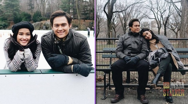 Liza Soberano and Enrique Gil in New York City to shoot scenes for 'Alone/Together'