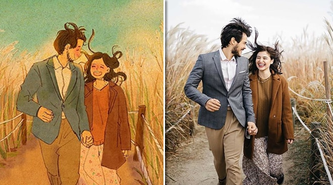 LOOK: Anne Curtis, Erwan Heussaff illustrated by popular Korean animator Puuung
