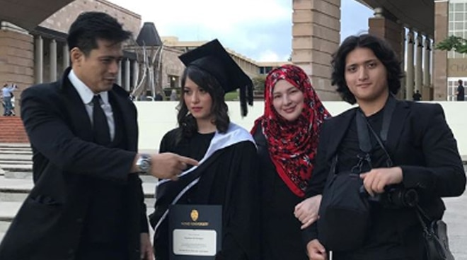 Robin Padilla's youngest child with ex-wife Liezl Sicangco graduates from college