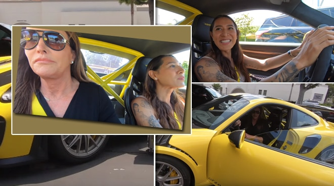 WATCH: Caitlyn Jenner lets Angelina Mead King drive her sports car
