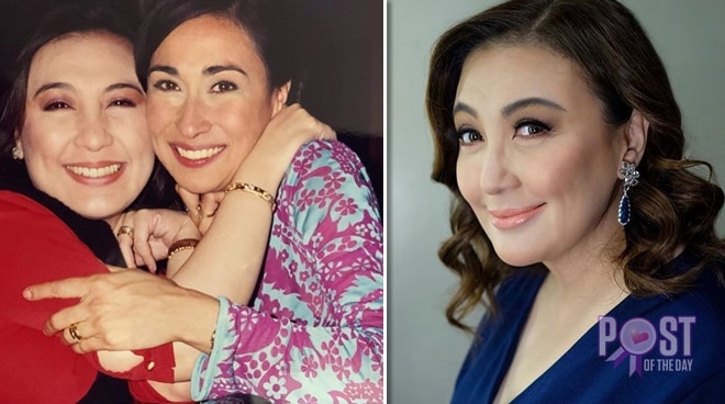 Sharon Cuneta congratulates Cherie Gil on her Gawad Urian win