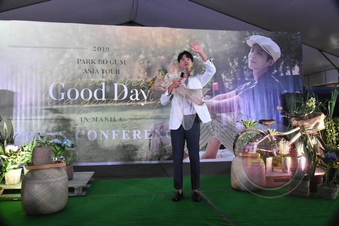 As part of his 'Good Day' Asia tour, Park Bo Gum is in Manila for a fan meet on June 22.