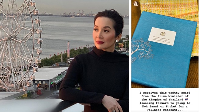 Kris Aquino receives gift from Thai Prime Minister