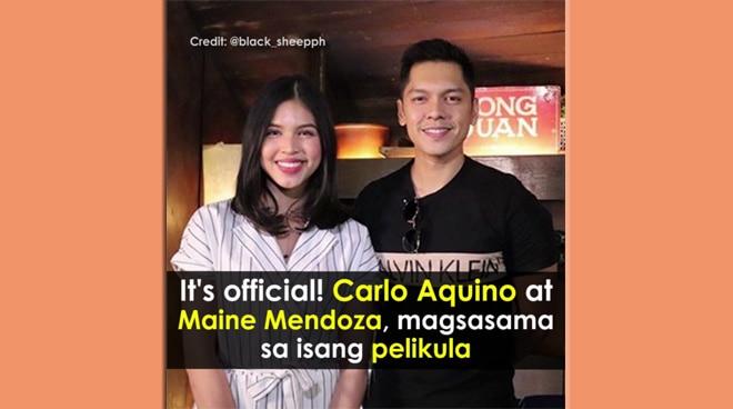 #PushTV: It's official! Carlo Aquino at Maine Mendoza, magsasama sa isang pelikula