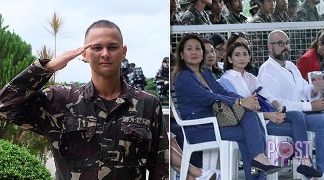 LOOK: Sarah Geronimo attends Matteo Guidicelli's graduation from his Scout Ranger Orientation Course