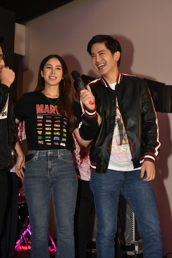 """Complete with """"zombies,"""" the cast of upcoming film Block Z arrived at the Philippine Toycon."""