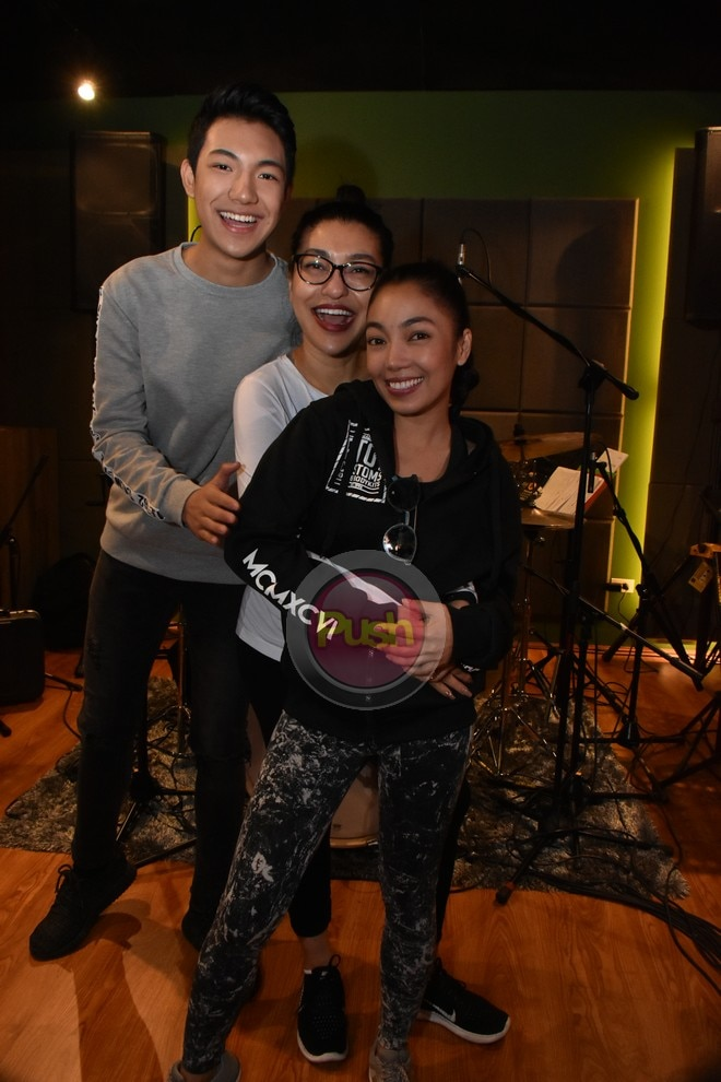 The three top singers rehearse for their Davao concert on Mar. 2.