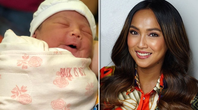 Rochelle Pangilinan shares first look at newborn daughter
