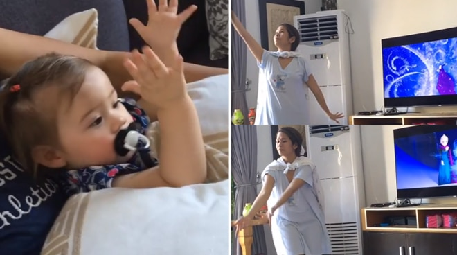 Pokwang hilariously recreates 'Frozen' scene for daughter Malia: 'Lahat gagawin mo'
