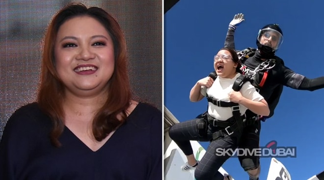 Director Antoinette Jadaone skydives in Dubai