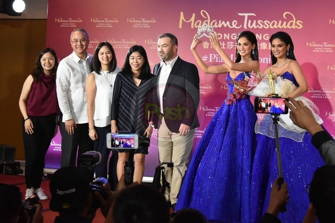 Pia is the first Filipino to have a wax figure at Madame Tussauds.