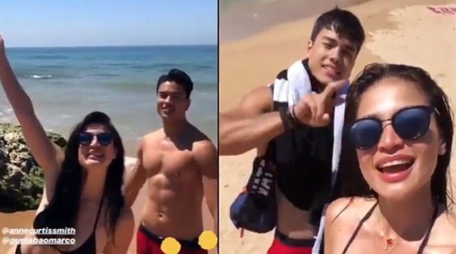 Anne Curtis, Marco Gumabao start shooting in Portugal for new film