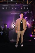 Celebrity friends and family members attend the black carpet premiere of the horror movie Maledicto