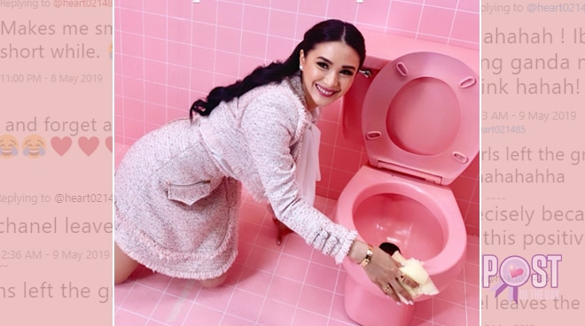 Netizens react to Heart Evangelista's OOTD when cleaning the toilet