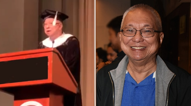 Ricky Lee inspires fresh graduates with his speech