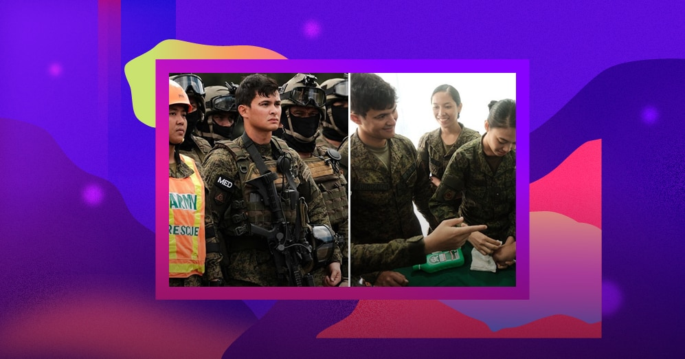Matteo Guidicelli joins the Philippine Army's field demonstration