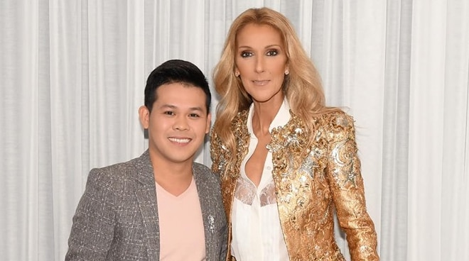 LOOK: Marcelito Pomoy meets his idol Celine Dion