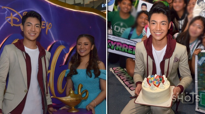 Darren Espanto, surprised during Aladdin's theme song performance with Morissette