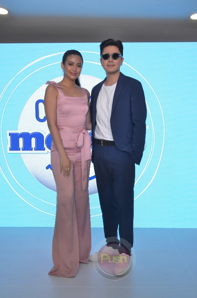 Gabbi Garcia and Paulo Avelino at the launch of Mentos Complimentos.