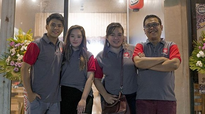 Nash Aguas opens new branch of Japanese resto in Rizal