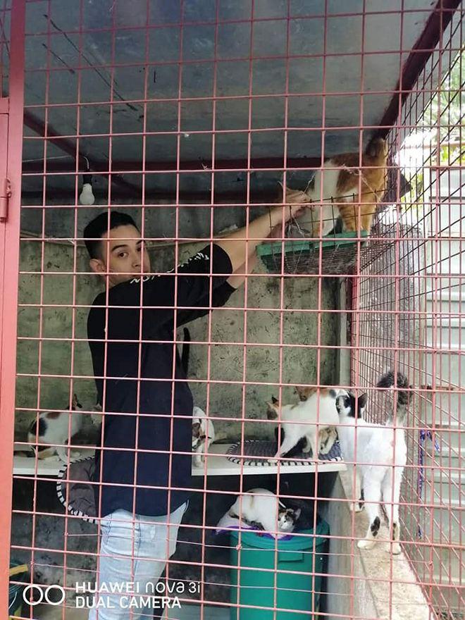 Teresa Loyzaga went to an animal shelter in Laguna with son Diego Loyzaga.