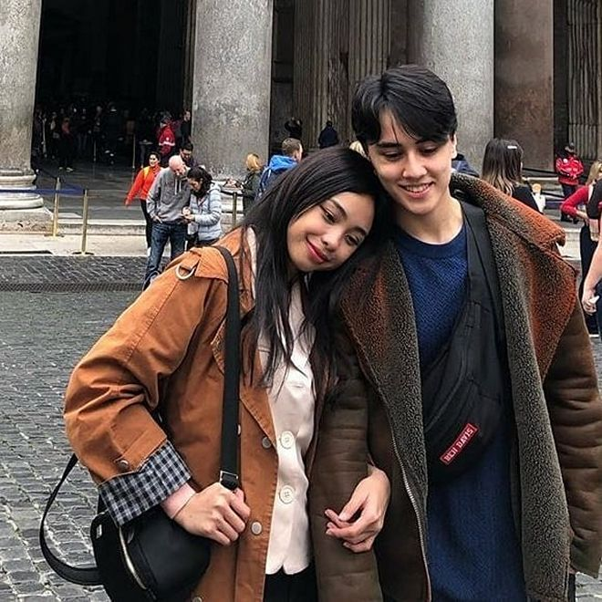 Maymay Entrata and Edward Barber were in the romantic city at Palazzo Dello Sport.