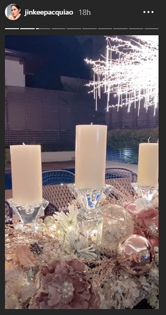 It's officially holiday season in the Pacquiao home!