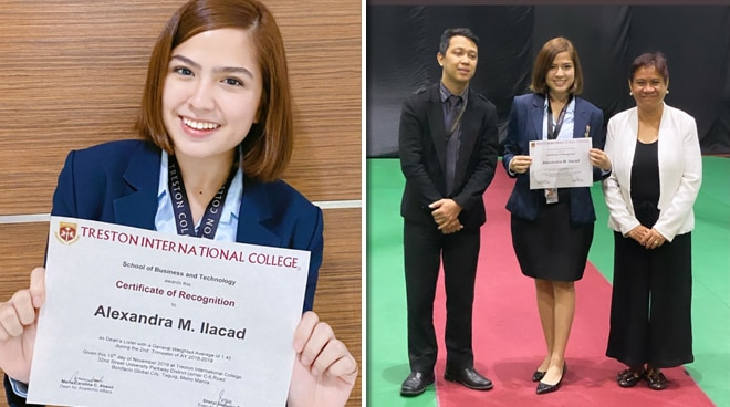 Alexa Ilacad becomes a Dean's Lister in college