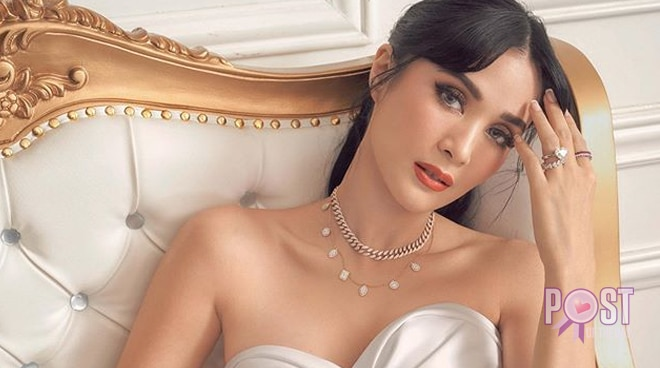 Heart Evangelista reacts to her 'pregnant belly'