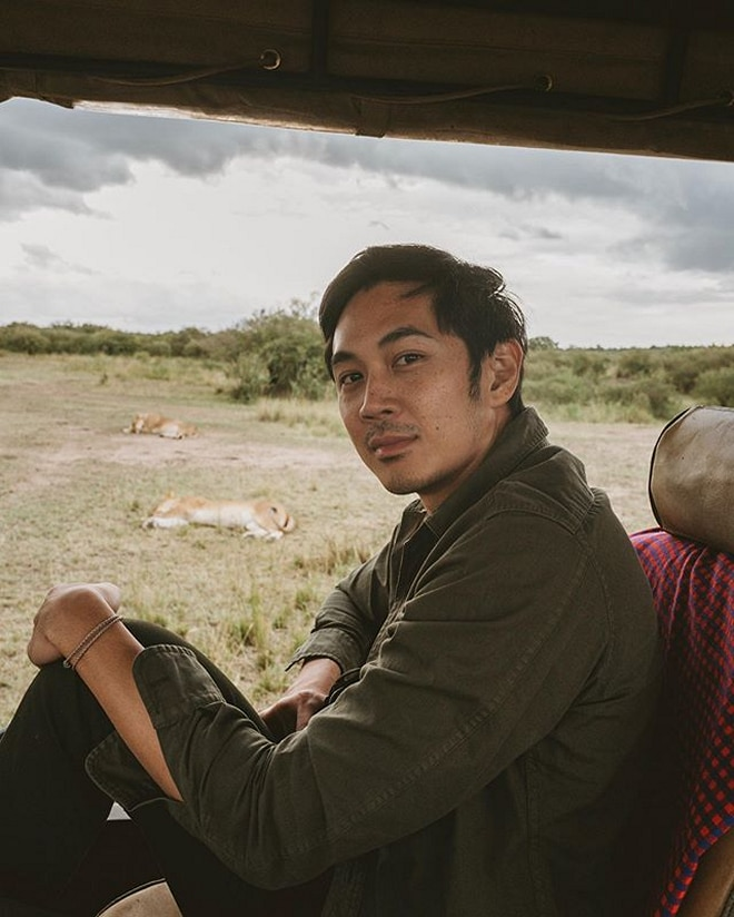 Slater and Kryz got to experience 'pure nature' during their Safari adventure