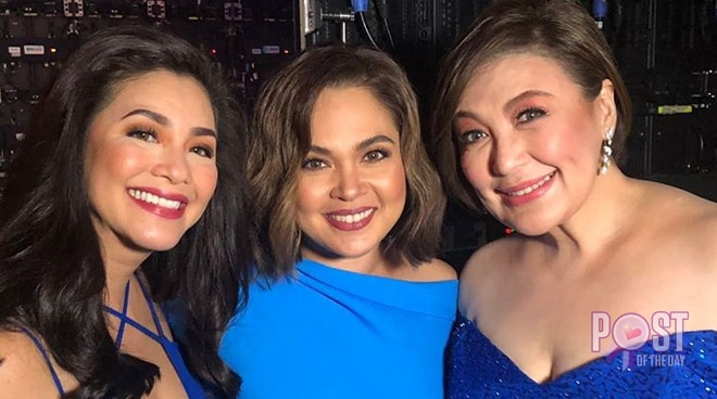 Regine Velasquez, Judy Ann Santos, Sharon Cuneta pose for photo at ASAP Natin 'To backstage