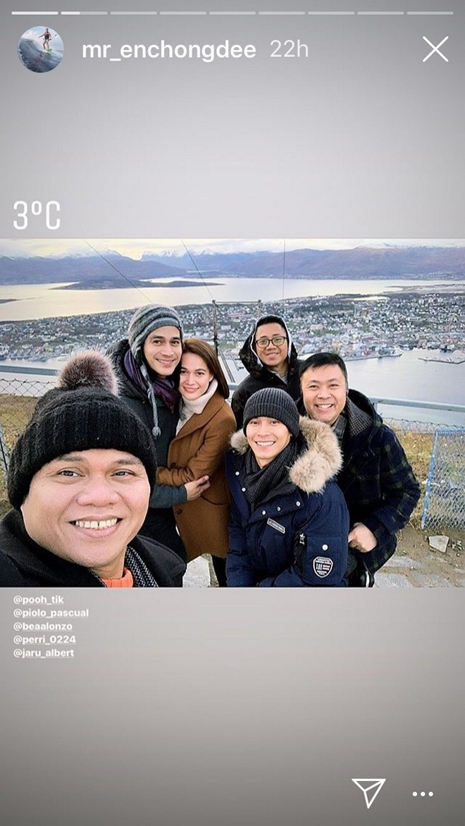 Bea Alonzo mixes work with play during her latest trip abroad with fellow Star Magic artists.